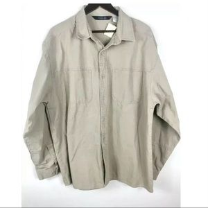 The north face khaki men's work jacket xl cotton